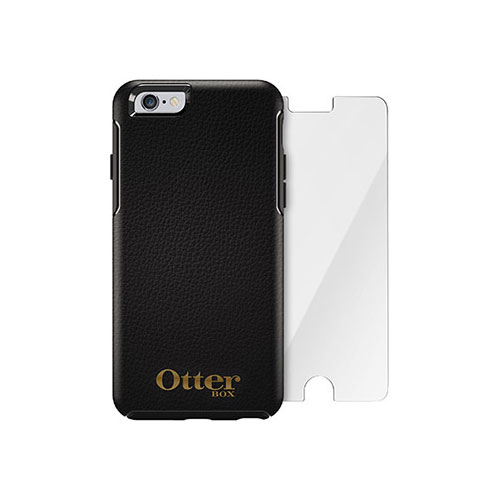 Чехол Otterbox Symmetry Series Midnight + защитное стекло Alpha Glass для iPhone 6/6s