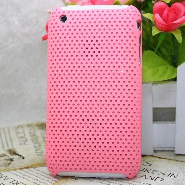 Пластиковый розовый чехол Grid для iPhone 3G/3GS