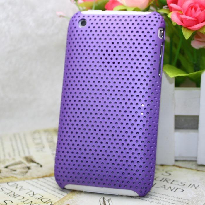 Пластиковый фиолетовый чехол Grid для iPhone 3G/3GS