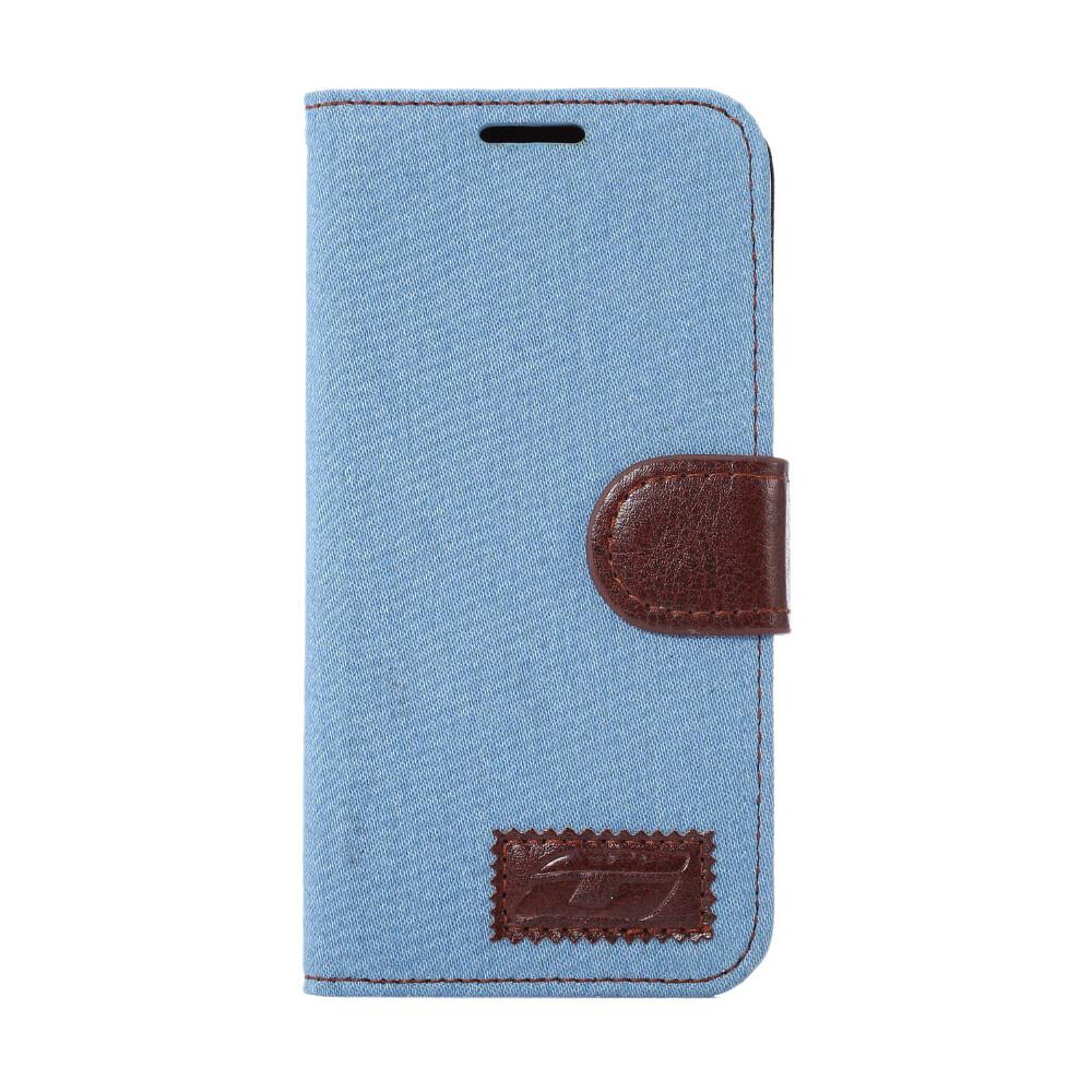 Чехол-кошелек S-Green Голубой для Samsung Galaxy S7 edge