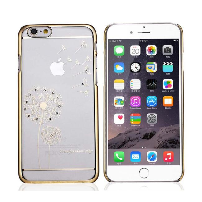 Чехол SWAROVSKI Dandelion Clear Gold для iPhone 6/6s Plus