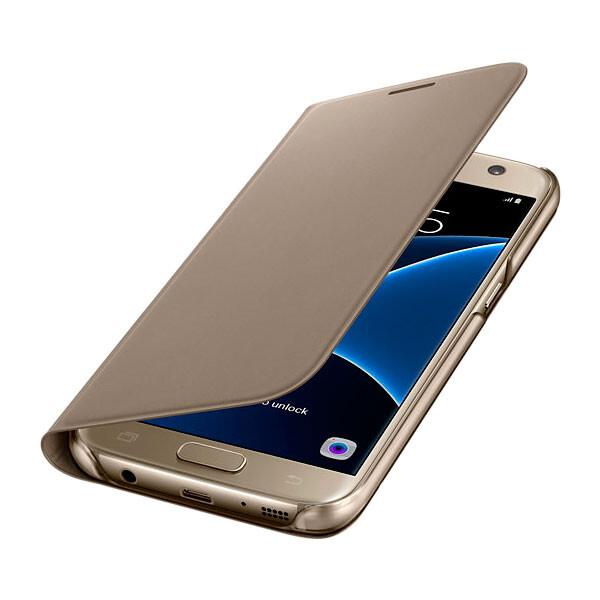 Чехол Samsung Flip Wallet Gold для Samsung Galaxy S7