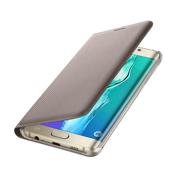 Чехол Samsung Wallet Flip Cover Gold для Samsung Galaxy S6 Edge+ Plus