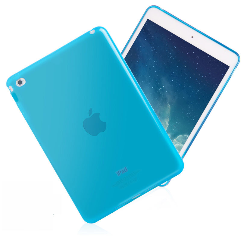 Прозрачный TPU чехол Silicol Blue для iPad mini 4