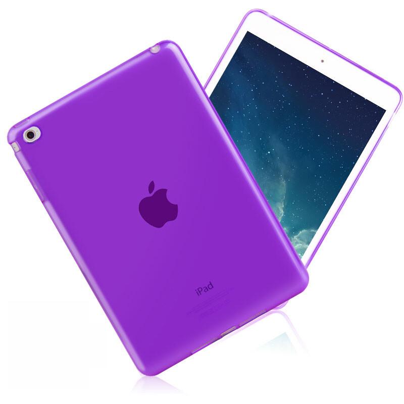 Прозрачный TPU чехол Silicol Purple для iPad mini 4