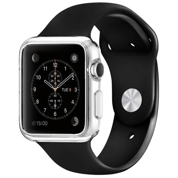 Тонкий прозрачный TPU чехол iLoungeMax SilicolDots для Apple Watch Series 1 | 2 | 3 42mm