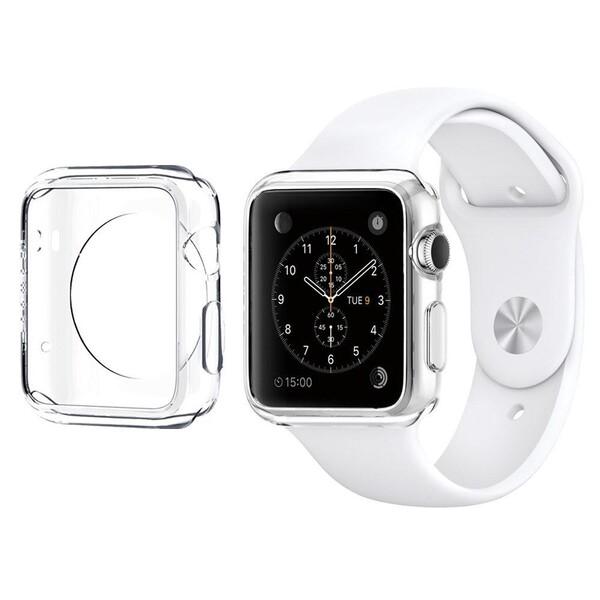 Тонкий прозрачный TPU чехол iLoungeMax SilicolDots для Apple Watch Series 1 | 2 | 3 38mm