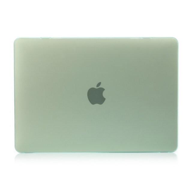 """Салатовый пластиковый чехол Soft Touch для MacBook 12"""""""