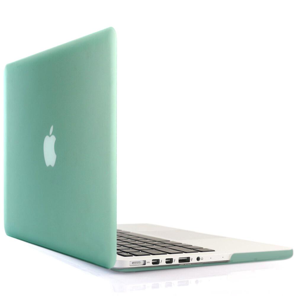 """Салатовый пластиковый чехол Soft Touch для MacBook Pro 15"""" Retina"""