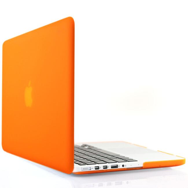 """Оранжевый пластиковый чехол Soft Touch для MacBook Pro 15"""" Retina"""