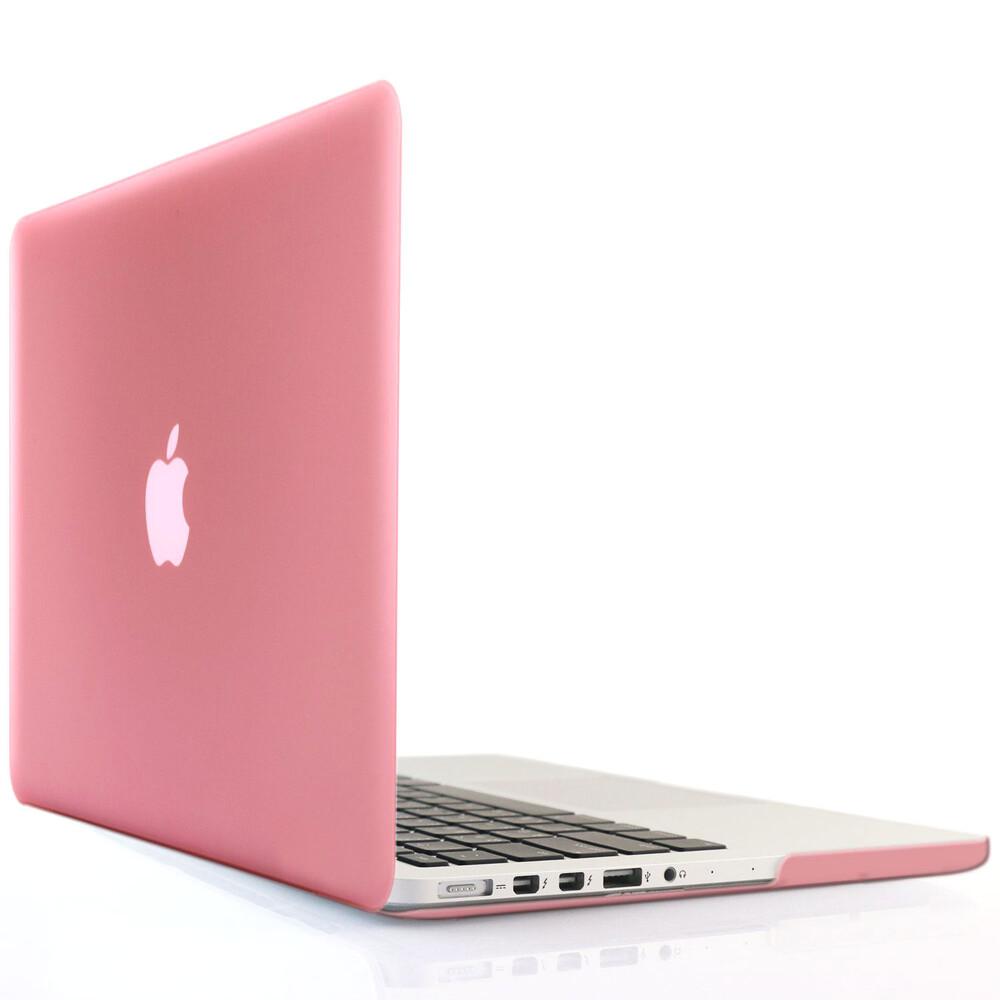 """Розовый пластиковый чехол Soft Touch для MacBook Pro 15"""" Retina"""