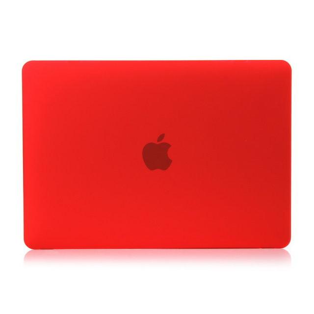 """Красный пластиковый чехол Soft Touch для MacBook 12"""""""