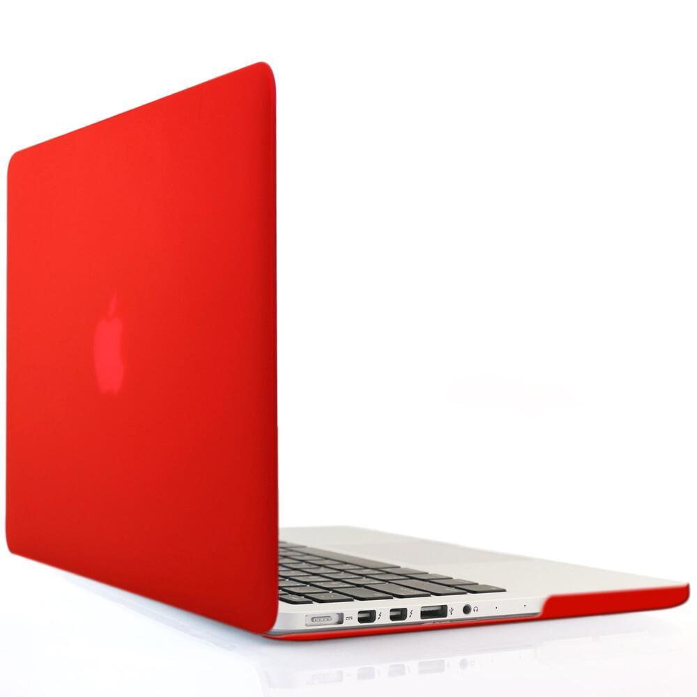 """Красный пластиковый чехол Soft Touch для MacBook Pro 15"""" Retina"""