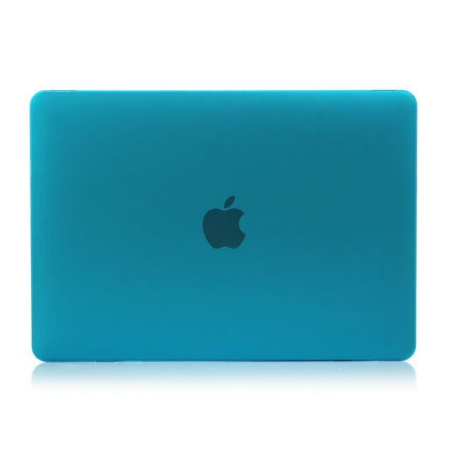 """Синий пластиковый чехол Soft Touch для MacBook 12"""""""