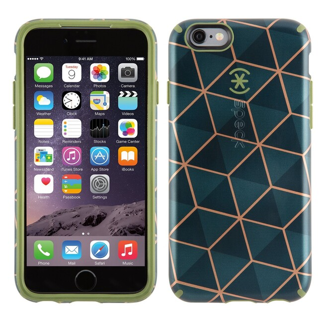 Чехол Speck CandyShell Inked Luxury Edition Stacked Cube Green для iPhone 6/6s