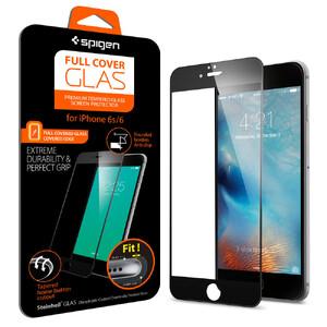 Купить Защитное стекло Spigen Full Cover Glass Black для iPhone 6/6s
