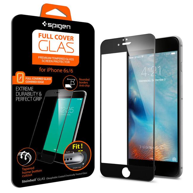 Защитное стекло Spigen Full Cover Glass Black для iPhone 6/6s