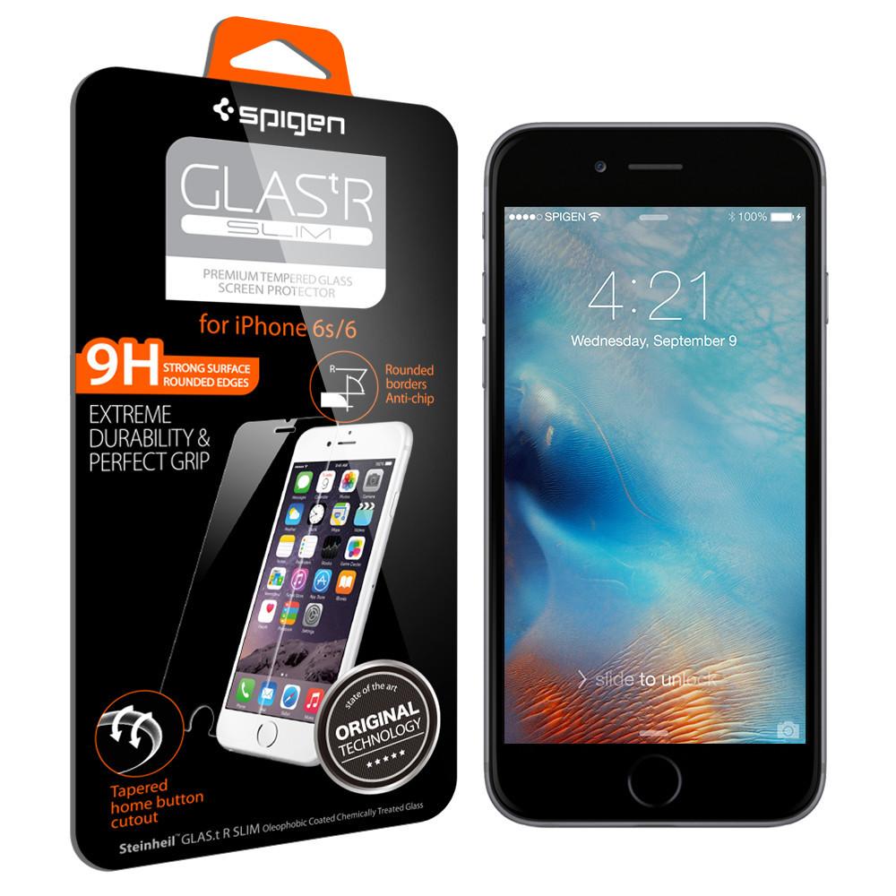 Купить Защитное стекло Spigen GLAS.tR SLIM для iPhone 6 | 6s