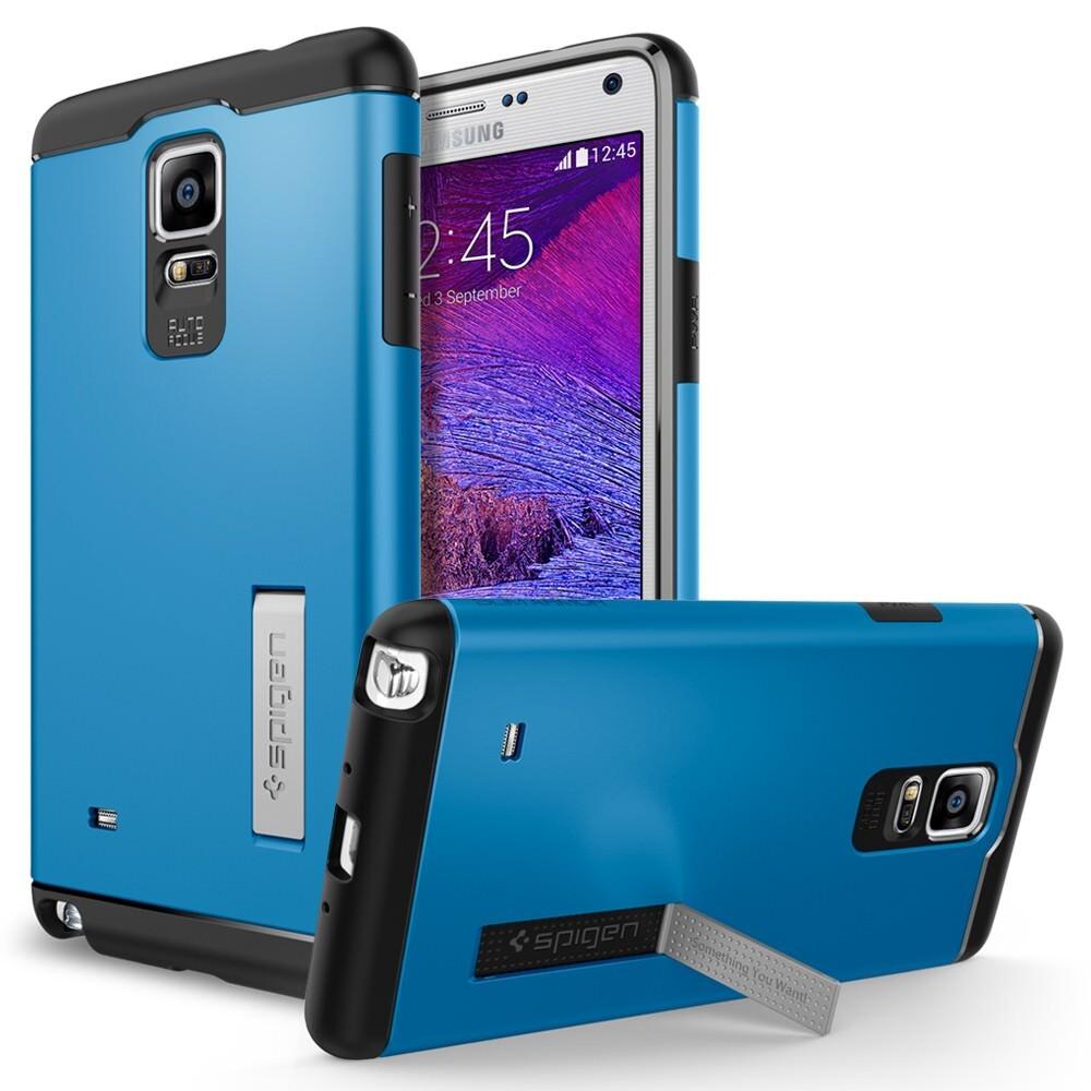 Чехол Spigen Slim Armor Electric Blue для Samsung Galaxy Note 4