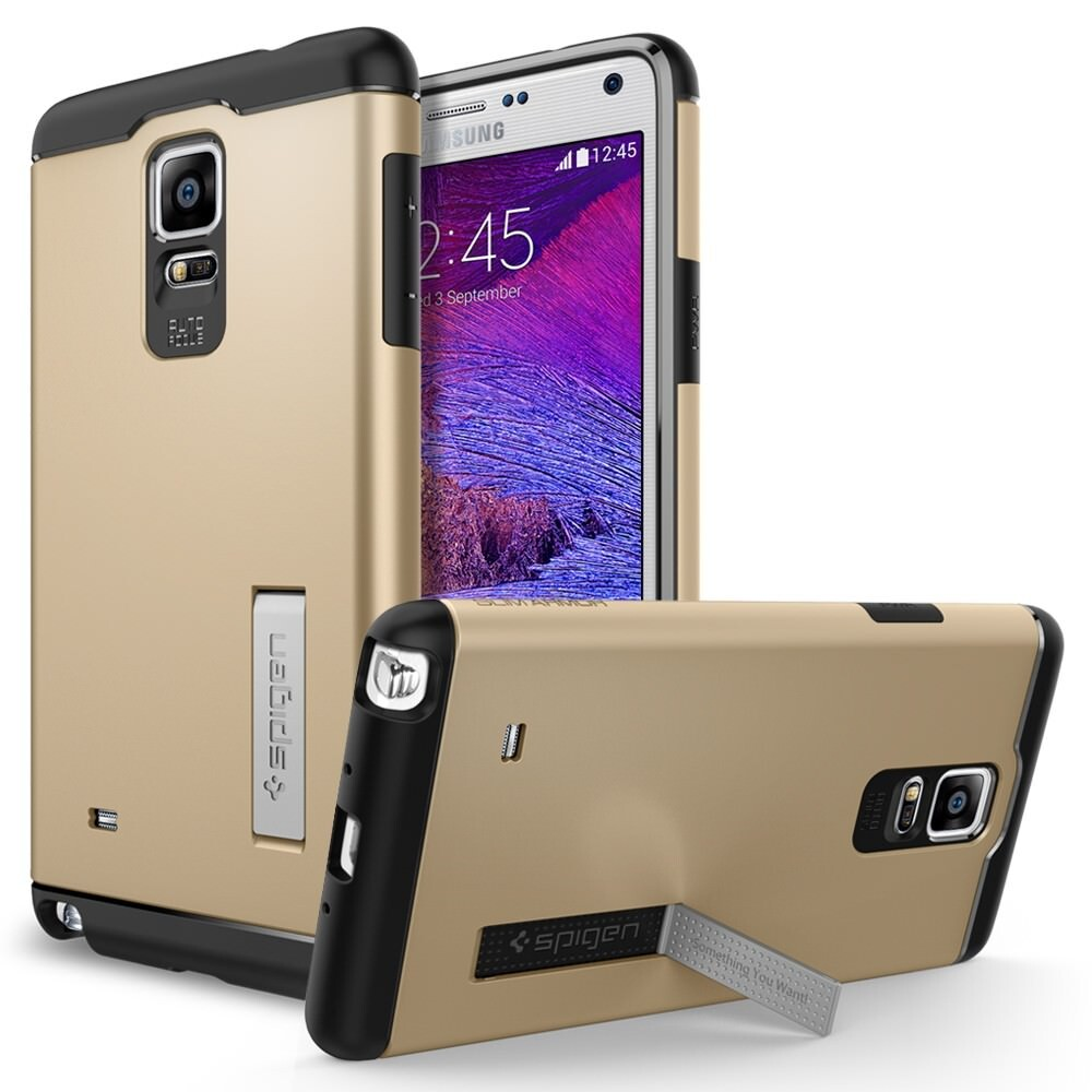 Чехол Spigen Slim Armor Champagne Gold для Samsung Galaxy Note 4