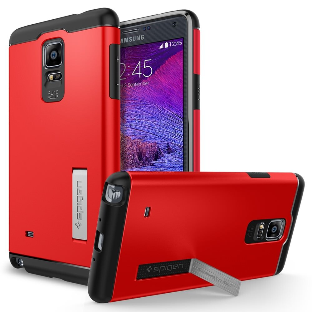 Чехол Spigen Slim Armor Electric Red для Samsung Galaxy Note 4