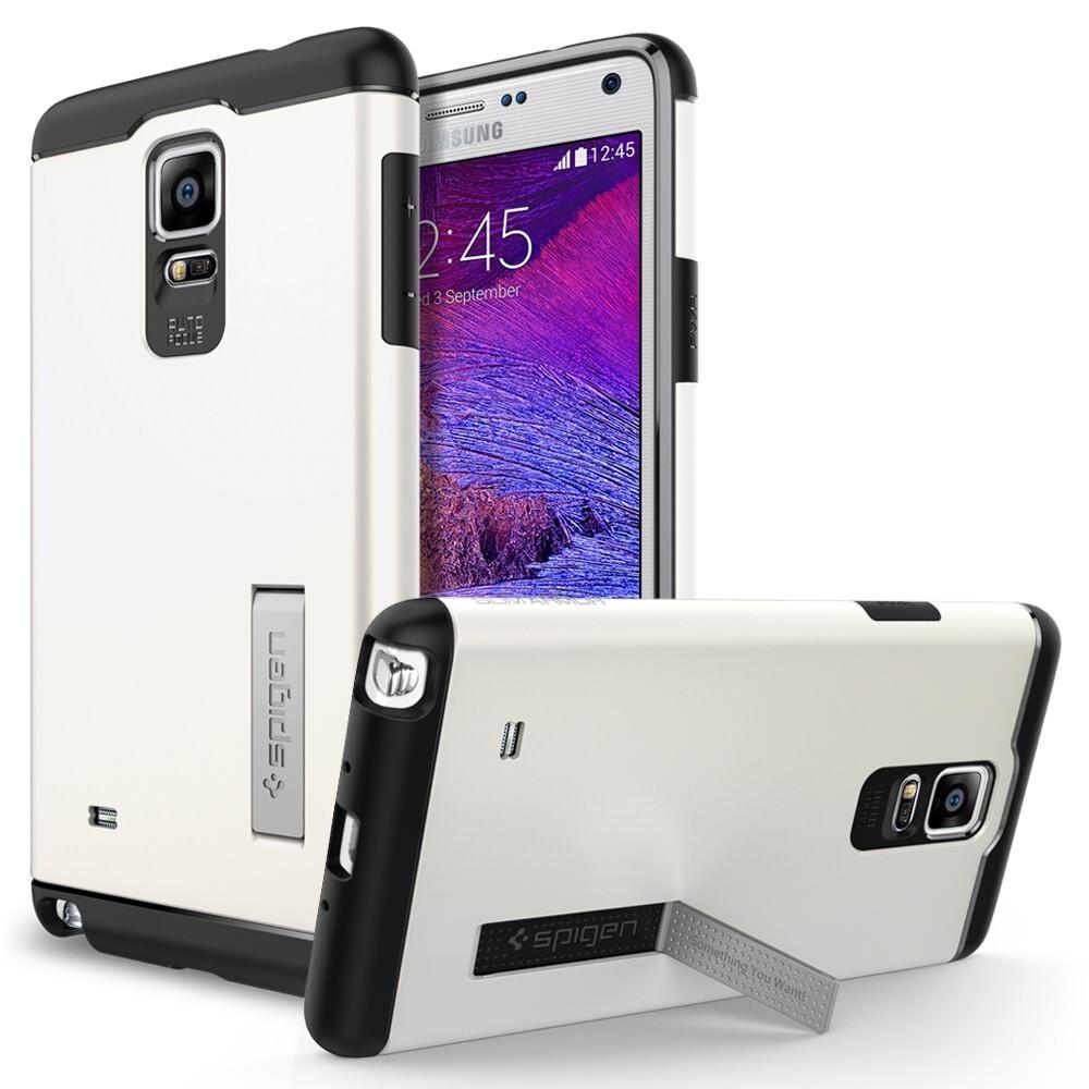 Чехол Spigen Slim Armor Shimmery White для Samsung Galaxy Note 4
