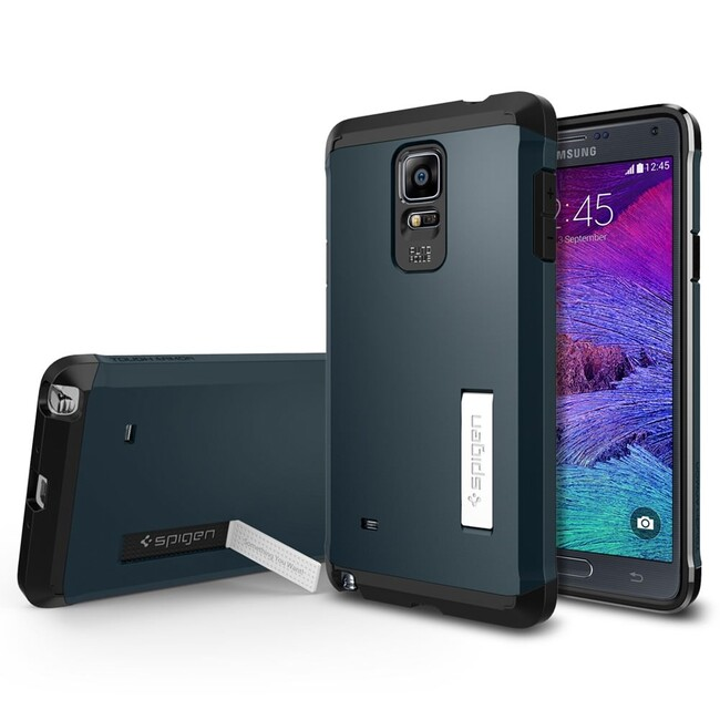 Чехол Spigen Tough Armor Metal Slate для Samsung Galaxy Note 4