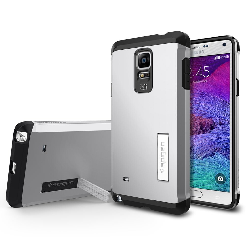 Чехол Spigen Tough Armor Satin Silver для Samsung Galaxy Note 4
