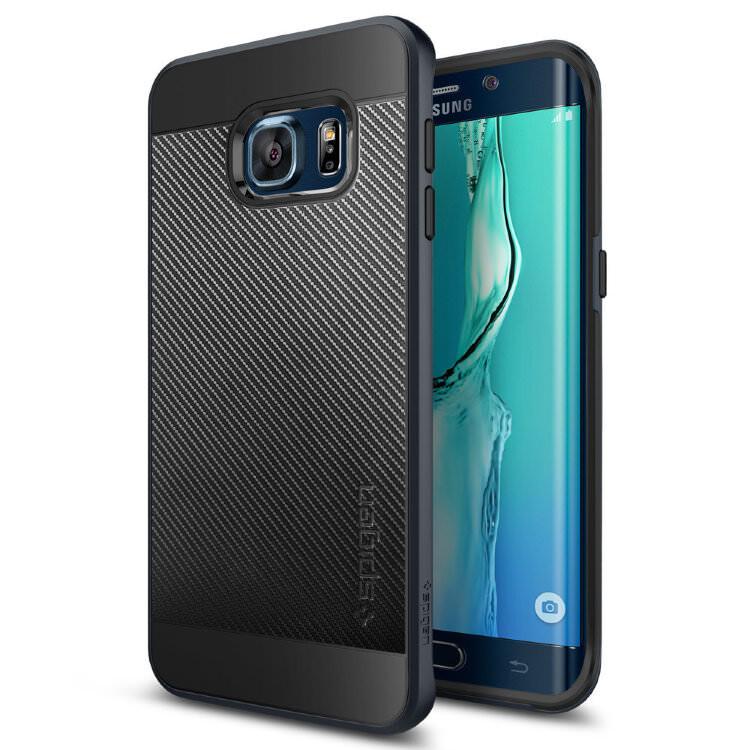 Чехол Spigen Neo Hybrid Carbon Metal Slate для Samsung Galaxy S6 Edge+