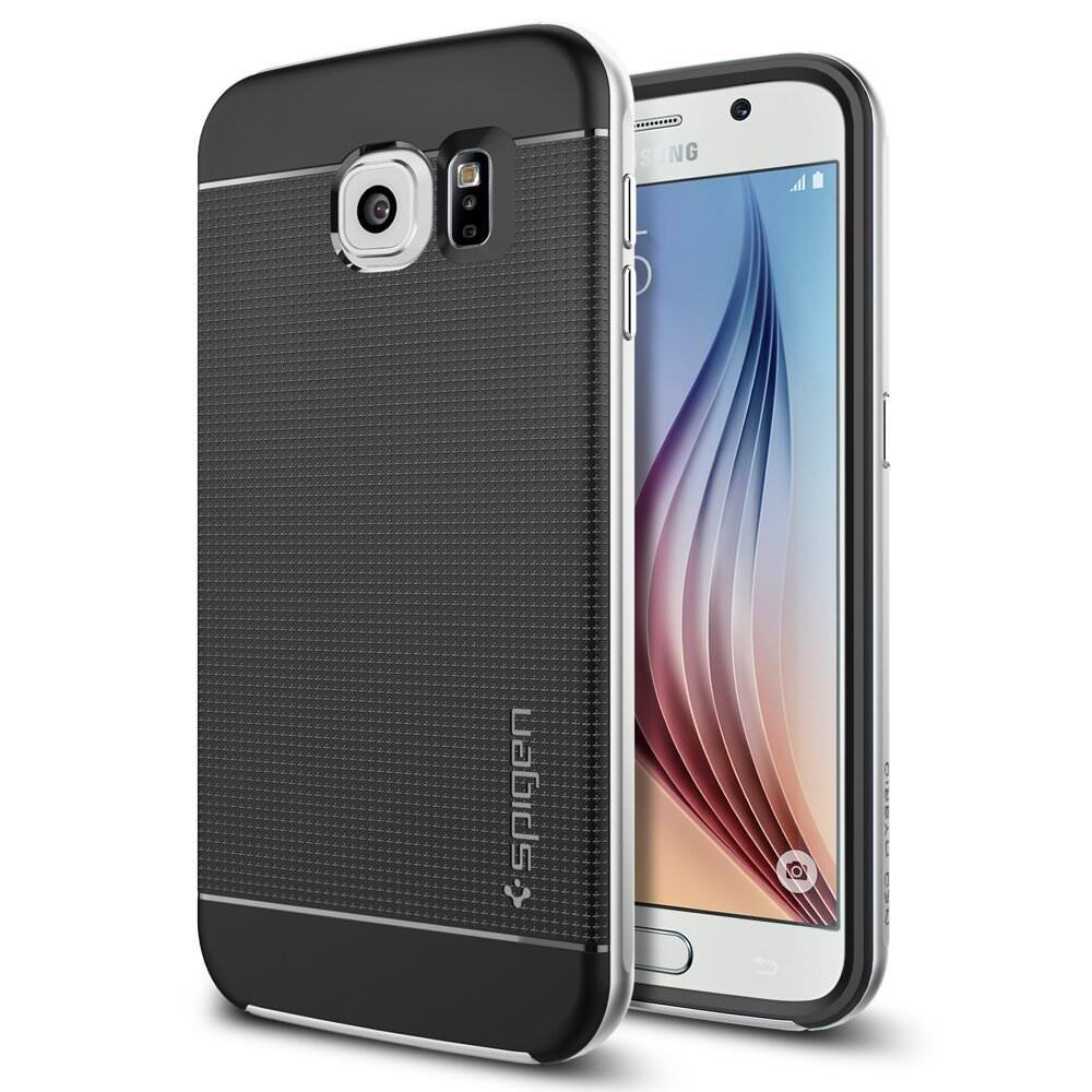Чехол Spigen Neo Hybrid Satin Silver для Samsung Galaxy S6