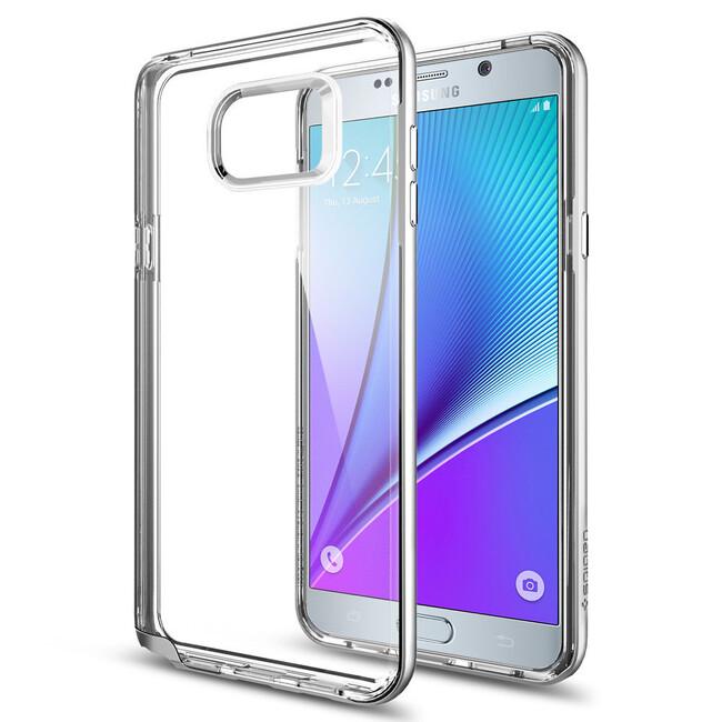 Чехол Spigen Neo Hybrid Crystal Satin Silver для Samsung Galaxy Note 5
