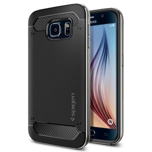 Чехол Spigen Neo Hybrid Metal Gunmetal для Samsung Galaxy S6