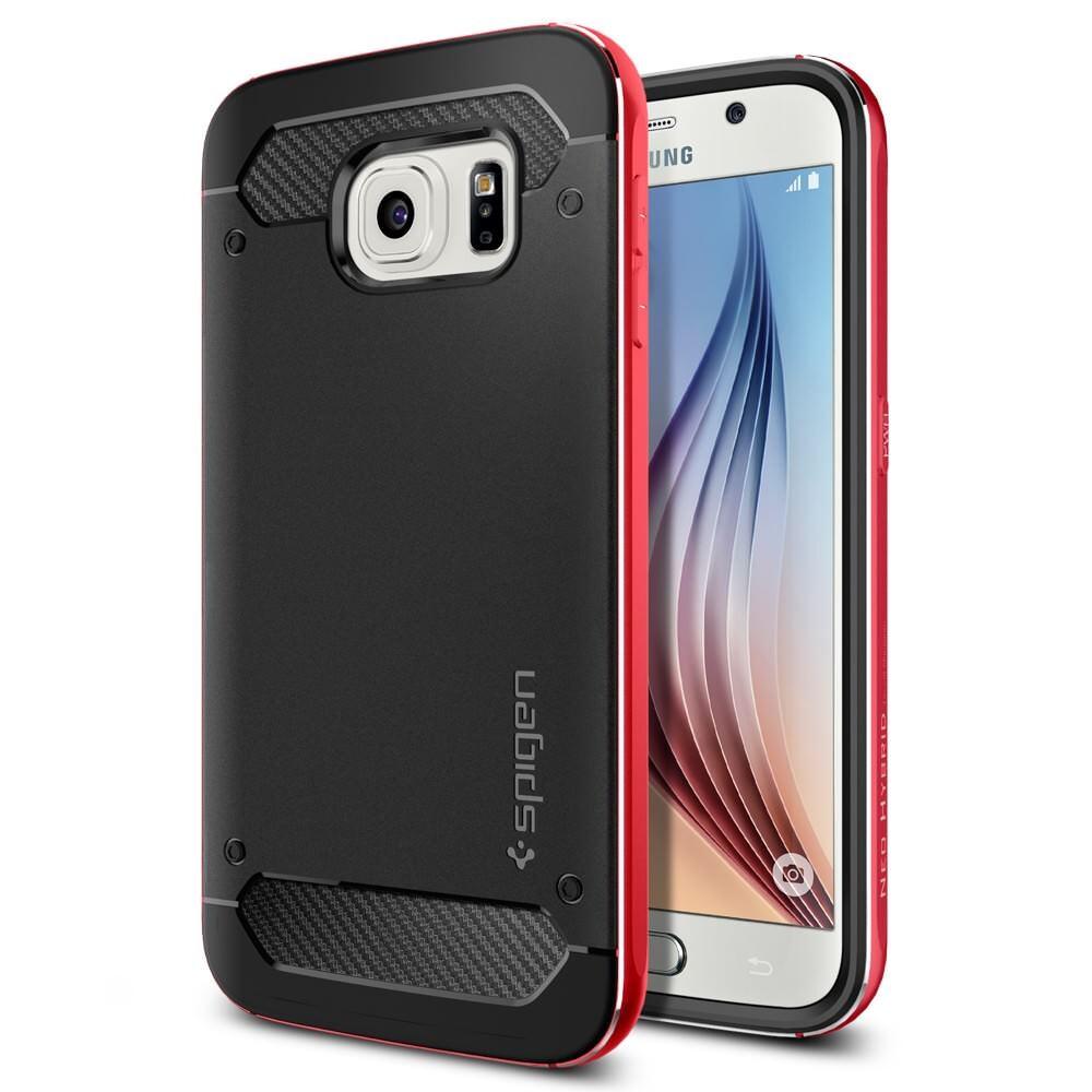Чехол Spigen Neo Hybrid Metal Red для Samsung Galaxy S6