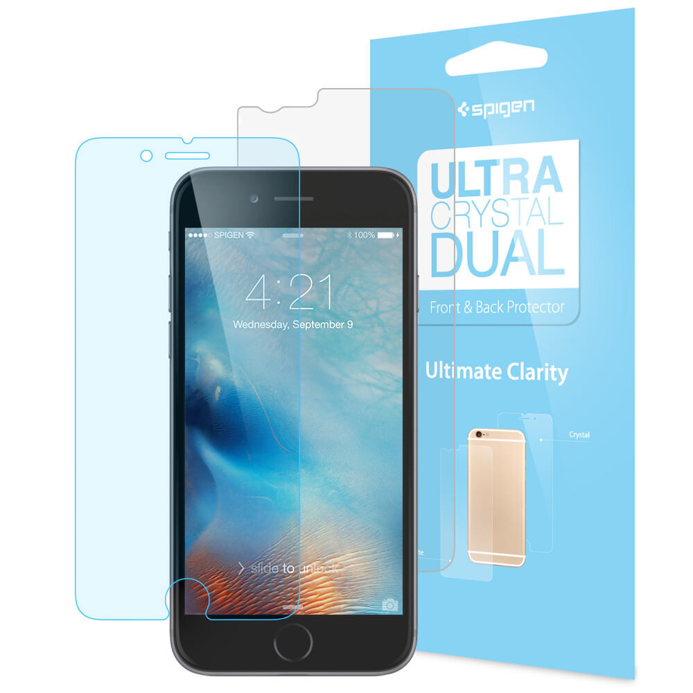Защитная пленка Spigen Steinheil Ultra Crystal Dual для iPhone 6/6s