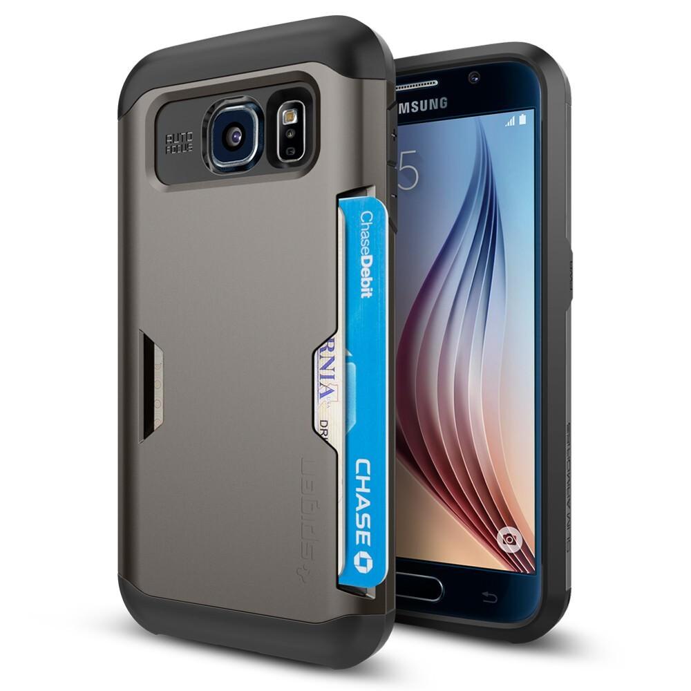 Чехол Spigen Slim Armor CS Gunmetal для Samsung Galaxy S6
