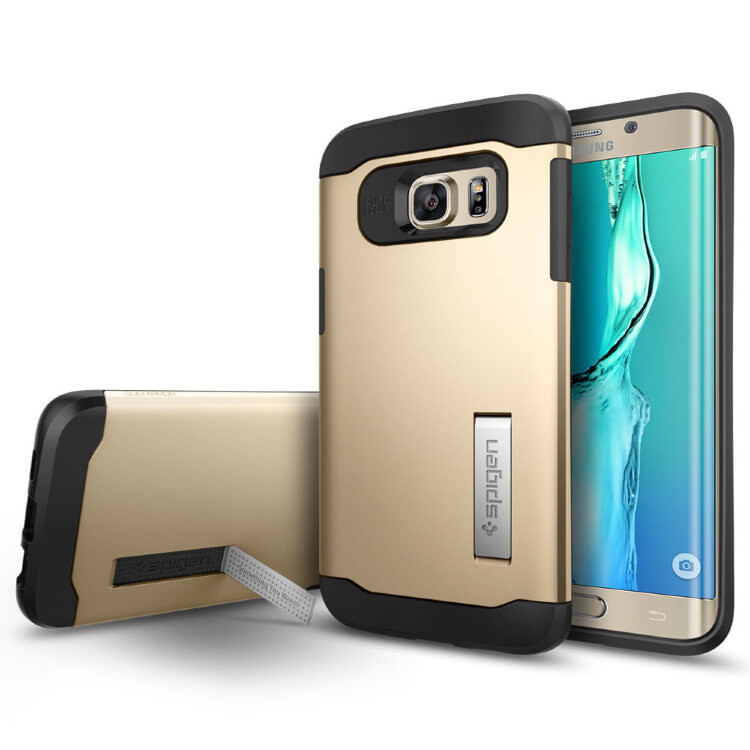 Чехол Spigen Slim Armor Champagne Gold для Samsung Galaxy S6 Edge+