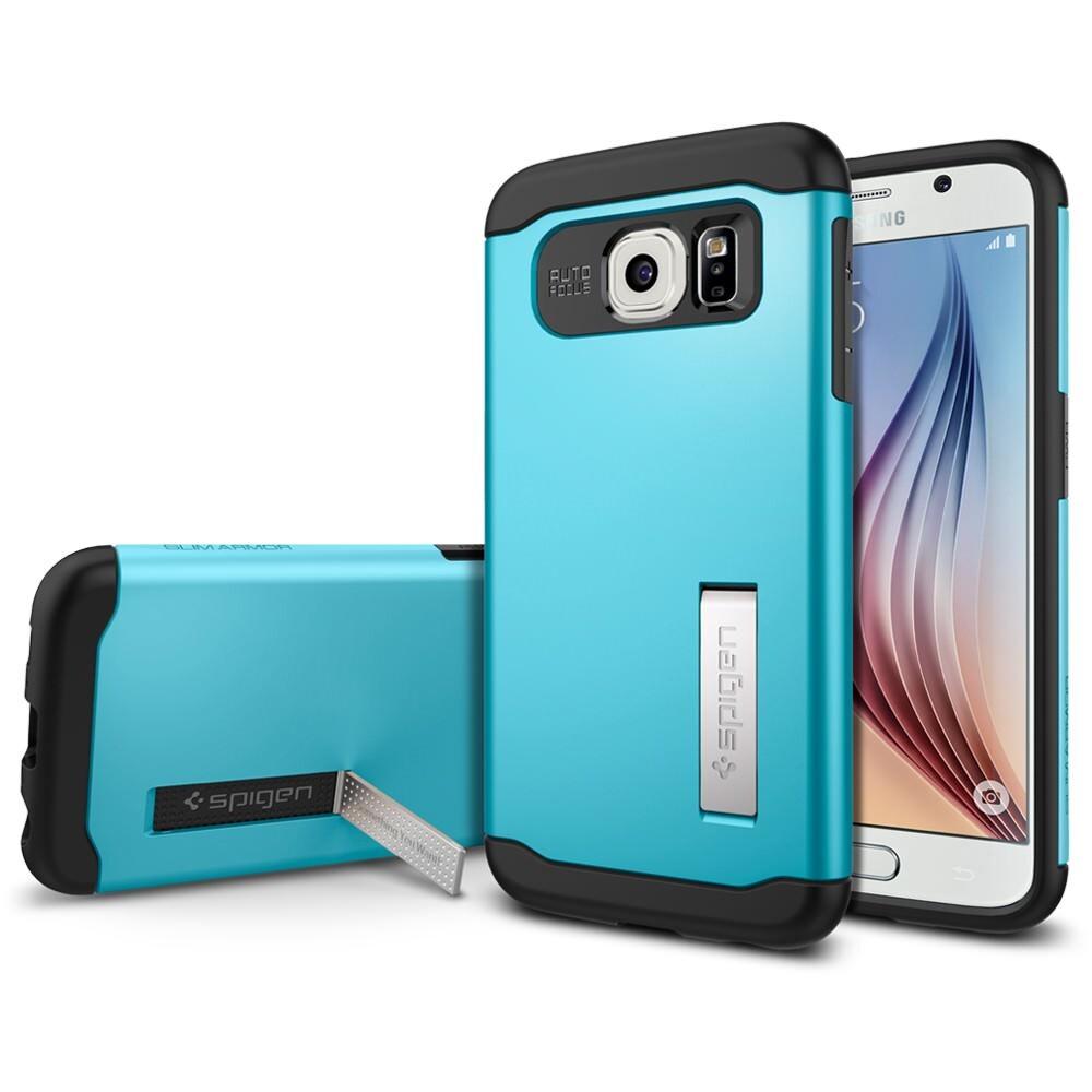 Чехол Spigen Slim Armor Blue Topaz для Samsung Galaxy S6