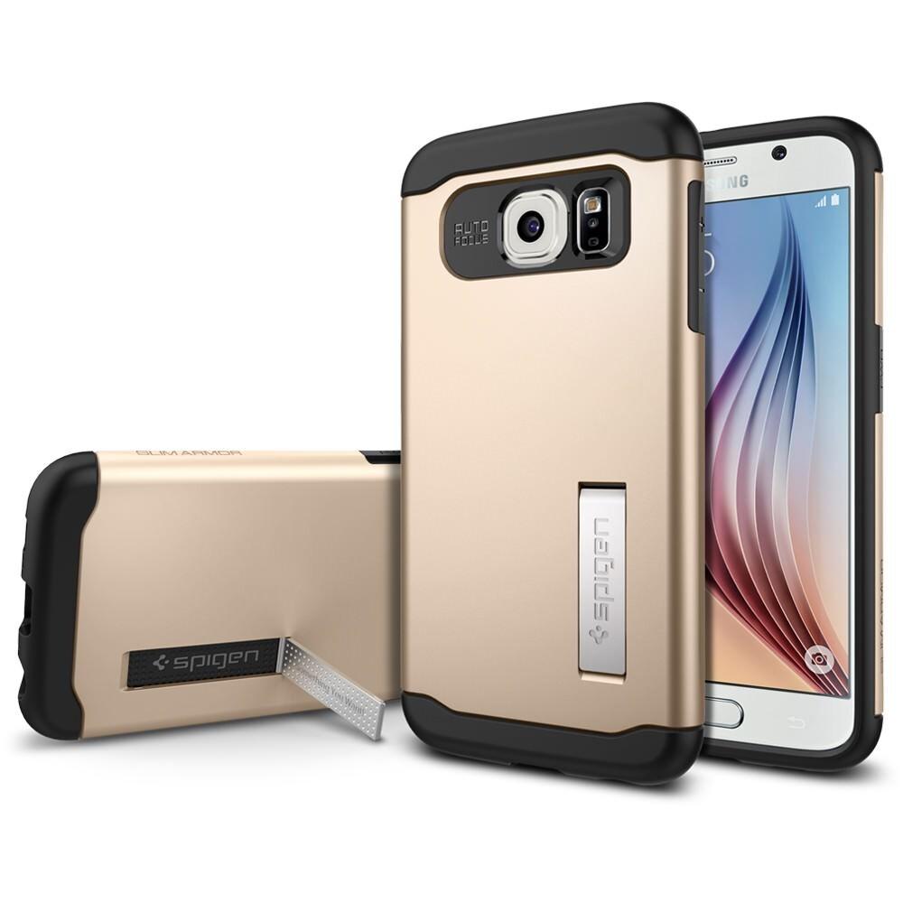 Чехол Spigen Slim Armor Champagne Gold для Samsung Galaxy S6