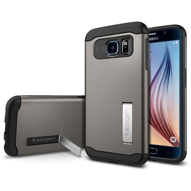 Чехол Spigen Slim Armor Gunmetal для Samsung Galaxy S6