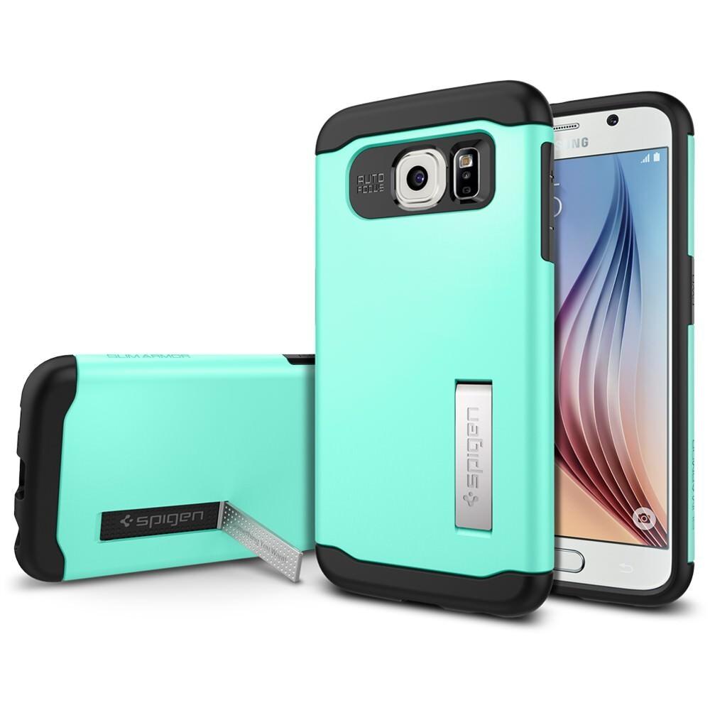 Чехол Spigen Slim Armor Mint для Samsung Galaxy S6