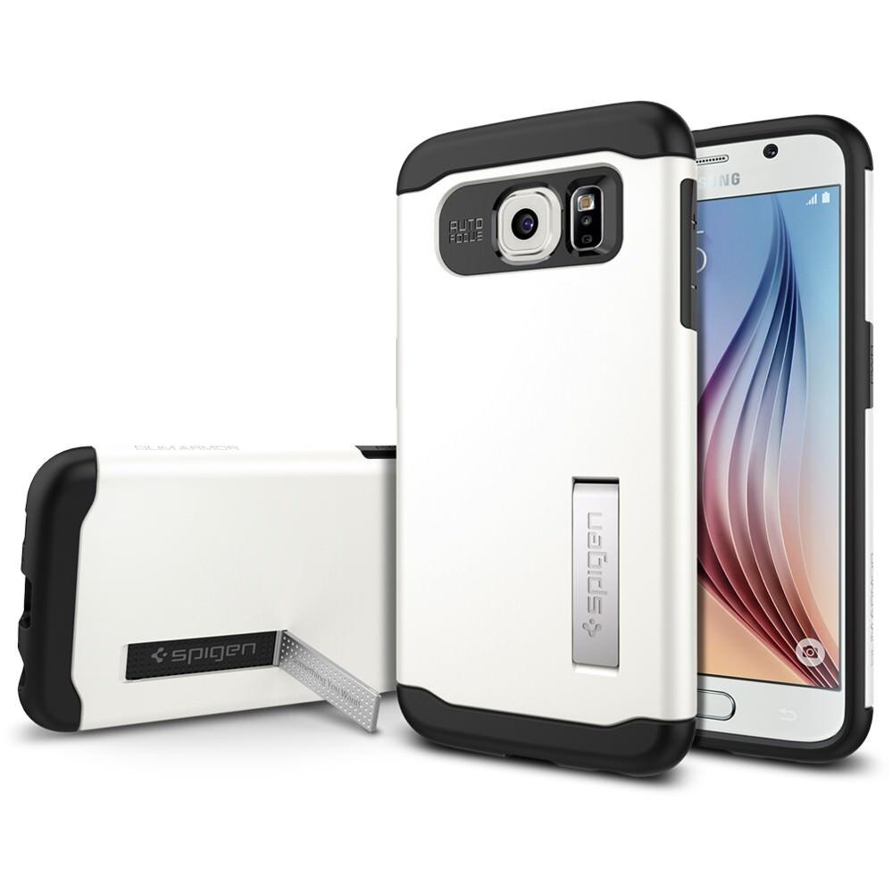 Чехол Spigen Slim Armor Shimmery White для Samsung Galaxy S6