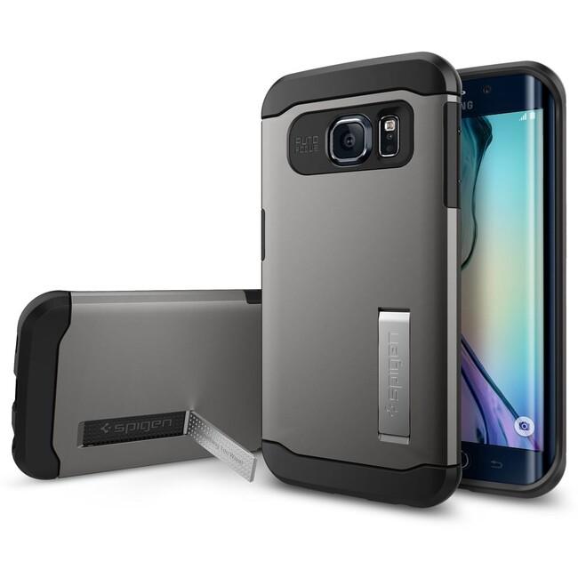 Чехол Spigen Slim Armor Gunmetal для Galaxy S6 Edge