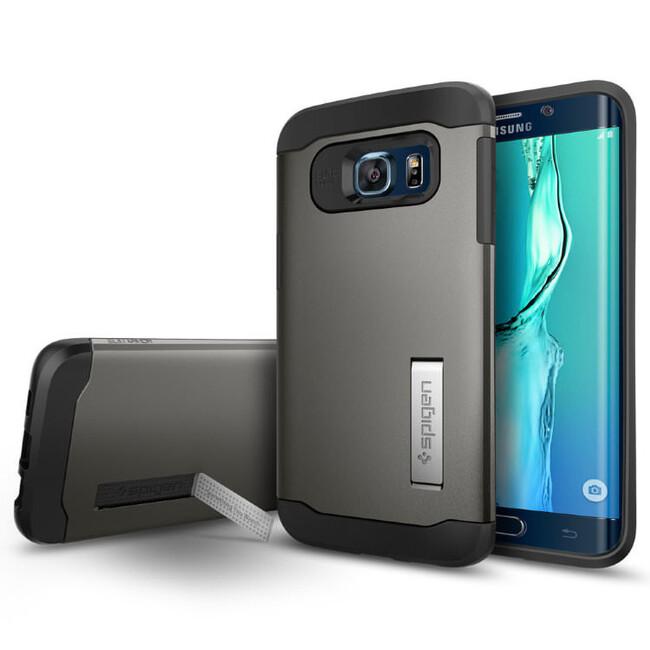 Чехол Spigen Slim Armor Gunmetal для Samsung Galaxy S6 Edge+
