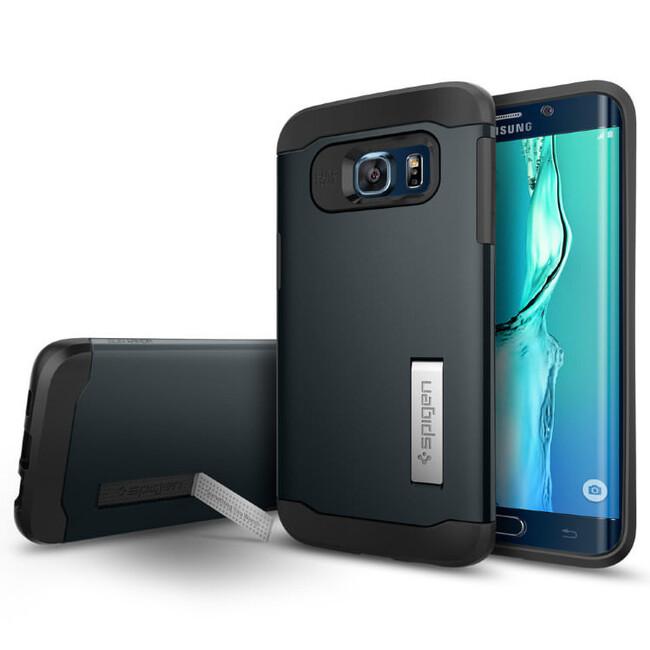 Чехол Spigen Slim Armor Metal Slate для Samsung Galaxy S6 Edge+