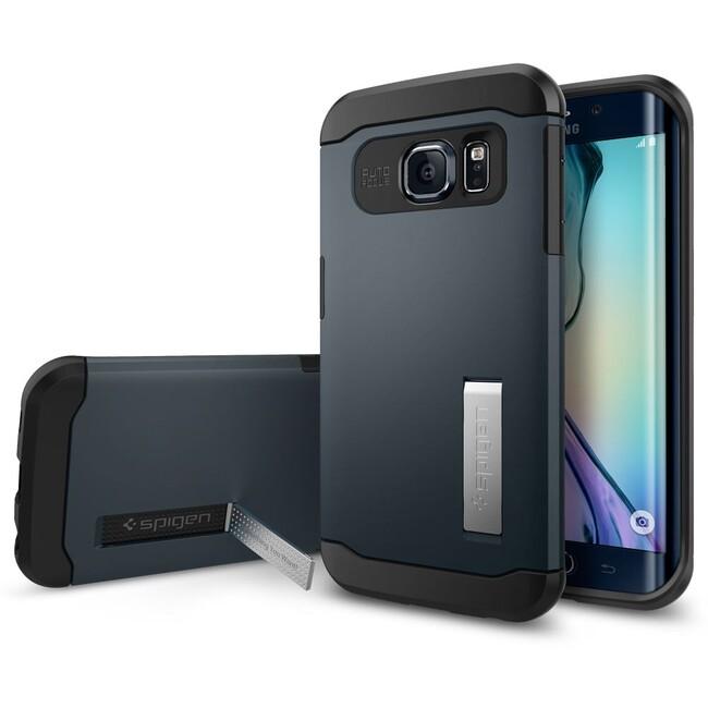 Чехол Spigen Slim Armor Metal Slate для Galaxy S6 Edge