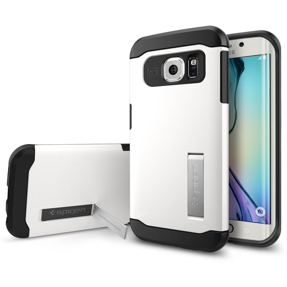 Чехол Spigen Slim Armor Shimmery White для Galaxy S6 Edge