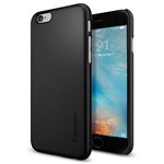 Чехол Spigen Thin Fit Black для iPhone 6/6s