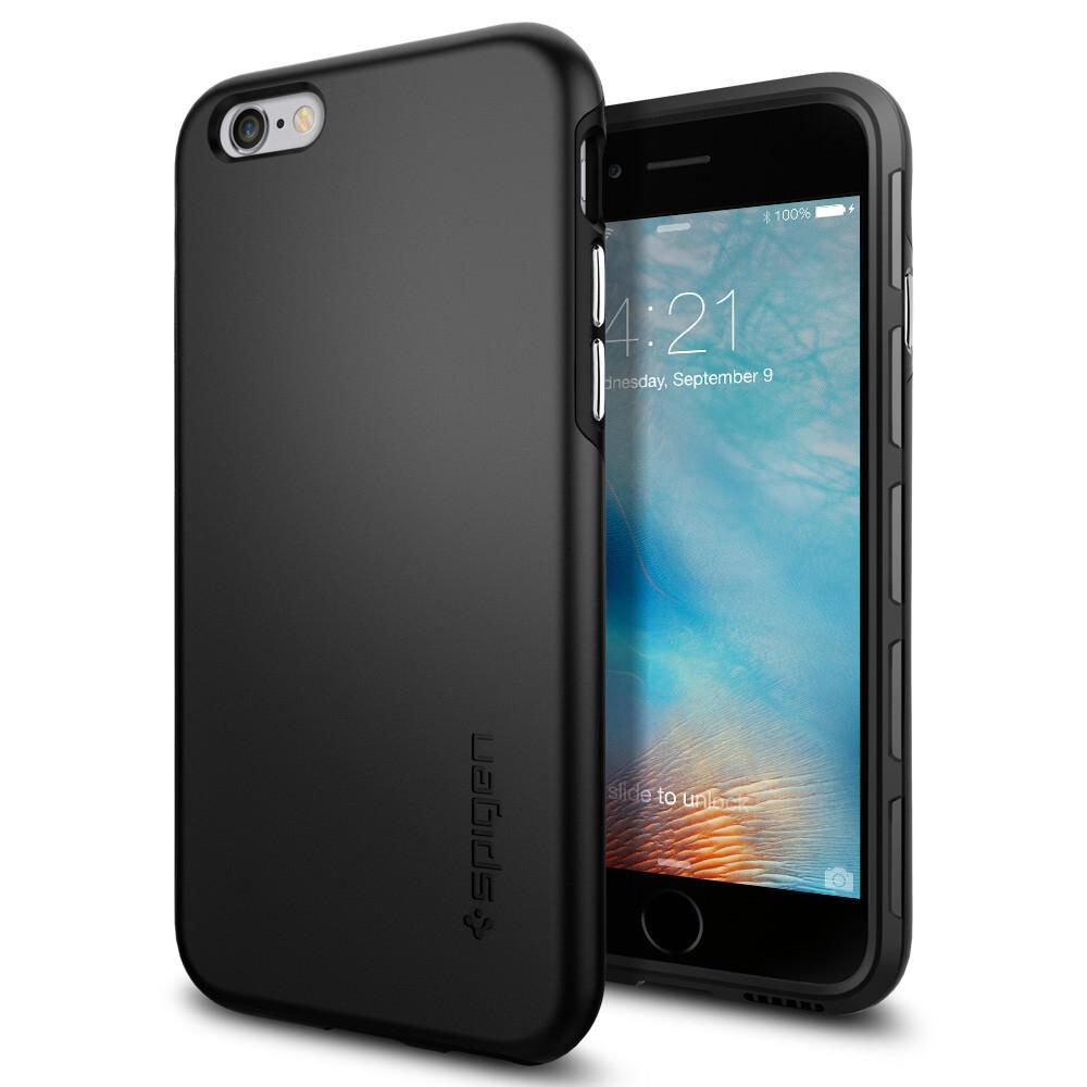 Чехол Spigen Thin Fit Hybrid Black для iPhone 6/6s