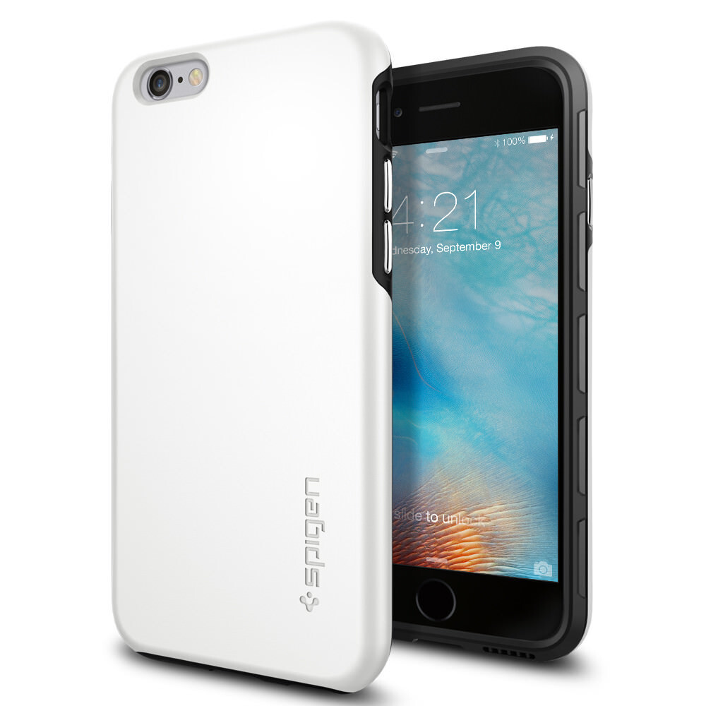 Чехол Spigen Thin Fit Hybrid White для iPhone 6/6s