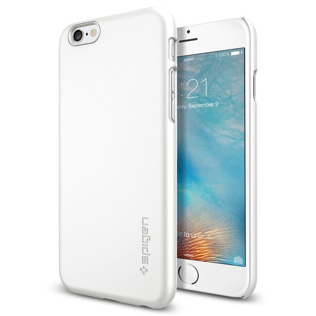 Чехол Spigen Thin Fit Shimmery White для iPhone 6/6s